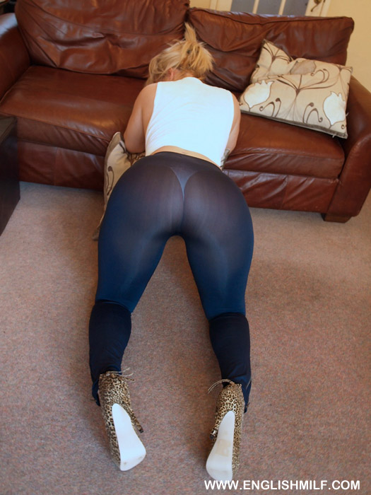 Sexy ass in spandex see through