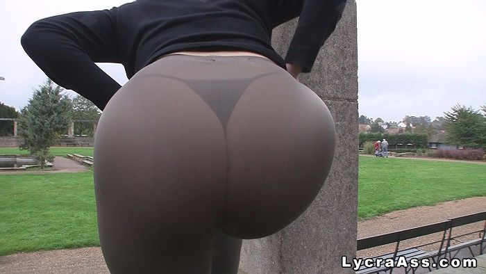 Butt In Tight Lycra And Spande Lycraass My Big Ass